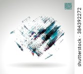 brush stroke and texture.... | Shutterstock .eps vector #384392272