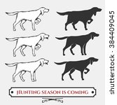 set of hunting dogs'...   Shutterstock .eps vector #384409045