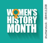 women's history month design.  | Shutterstock . vector #384411208