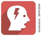 shouting head long shadow...   Shutterstock .eps vector #384413068