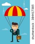 businessman character. cartoon... | Shutterstock .eps vector #384417385