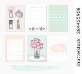 printable cute set of filler... | Shutterstock .eps vector #384425908