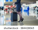 beautiful female passenger or... | Shutterstock . vector #384428065