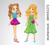 vector illustration of two... | Shutterstock .eps vector #384431272