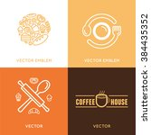 vector logo design element with ... | Shutterstock .eps vector #384435352