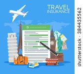 travel insurance form concept... | Shutterstock .eps vector #384435562