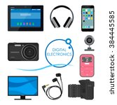 set of gadgets and consumer... | Shutterstock .eps vector #384445585