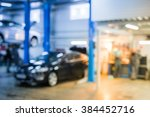 auto repair shop in bokeh ... | Shutterstock . vector #384452716