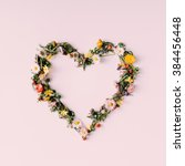 Heart Symbol Made Of Flovers...
