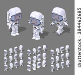 cartoon astronaut minifigure.... | Shutterstock .eps vector #384462685