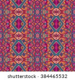 festive colorful tribal ethnic... | Shutterstock . vector #384465532