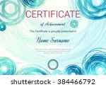 certificate or diploma template.... | Shutterstock .eps vector #384466792