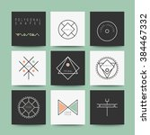 sacred geometry  set of minimal ... | Shutterstock .eps vector #384467332