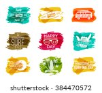 summer surfing day graphic... | Shutterstock .eps vector #384470572
