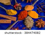 Different Colorful Spices In...