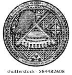 american samoa seal us flag... | Shutterstock . vector #384482608