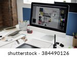 design studio creativity ideas... | Shutterstock . vector #384490126
