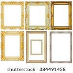 set of vintage frame isolated... | Shutterstock . vector #384491428