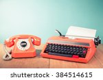 retro telephone and old... | Shutterstock . vector #384514615