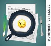 good morning. positive...   Shutterstock .eps vector #384532132
