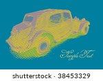 Retro Car ( Stylized Vector) - stock vector