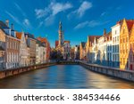 Scenic Cityscape With Canal...