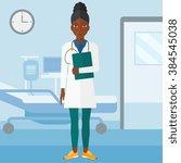 doctor in hospital ward. | Shutterstock .eps vector #384545038