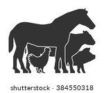 Stock vector farmers market logo on a white background vector farmers market icon black farm animals farm 384550318