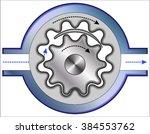 internal gear pump | Shutterstock .eps vector #384553762