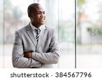 handsome black businessman... | Shutterstock . vector #384567796