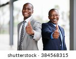 cheerful african business team... | Shutterstock . vector #384568315