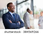 relaxed african american... | Shutterstock . vector #384569266