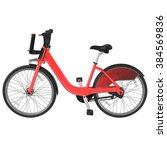 red bicycle  side view  3d | Shutterstock . vector #384569836