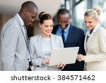 professional business people... | Shutterstock . vector #384571462