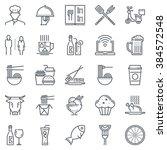 restaurant icon set suitable... | Shutterstock .eps vector #384572548