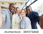 successful multiracial business ... | Shutterstock . vector #384576868