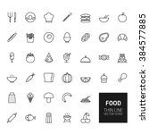 food outline icons for web and... | Shutterstock . vector #384577885