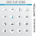 beach easy flat web icons for...   Shutterstock .eps vector #384579286