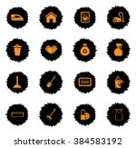 cleaning  services vector icons ... | Shutterstock .eps vector #384583192