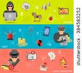 cyber crime horizontal banners... | Shutterstock .eps vector #384583252