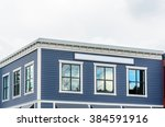 the top of the house with nice... | Shutterstock . vector #384591916