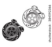 vector car brake. for print ... | Shutterstock .eps vector #384592366