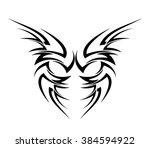 tribal art tattoo tribal design   Shutterstock .eps vector #384594922