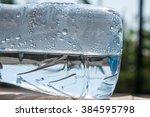 reflection in water bottle  | Shutterstock . vector #384595798