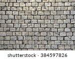 paving blocks made of small... | Shutterstock . vector #384597826