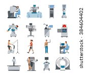 bionic icons with surgical and... | Shutterstock .eps vector #384604402
