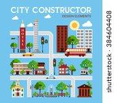 city constructor design... | Shutterstock .eps vector #384604408