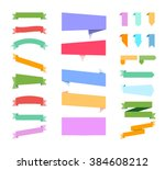 banners on white background.... | Shutterstock .eps vector #384608212