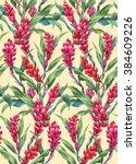 floral composition of ginger... | Shutterstock . vector #384609226