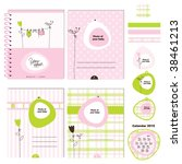 baby girl design elements for... | Shutterstock .eps vector #38461213